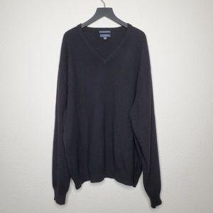 Club Room Black Fine Cashmere Pullover Sweater